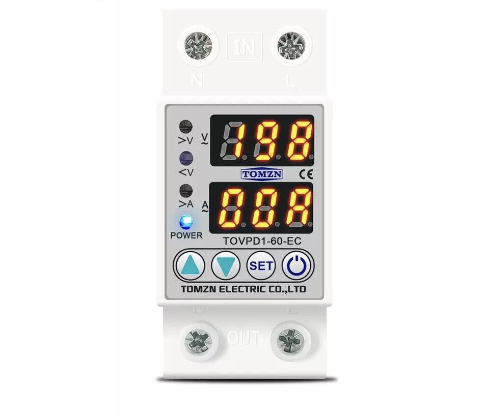 Thiết bị bảo vệ điện có hiển thị dòng áp